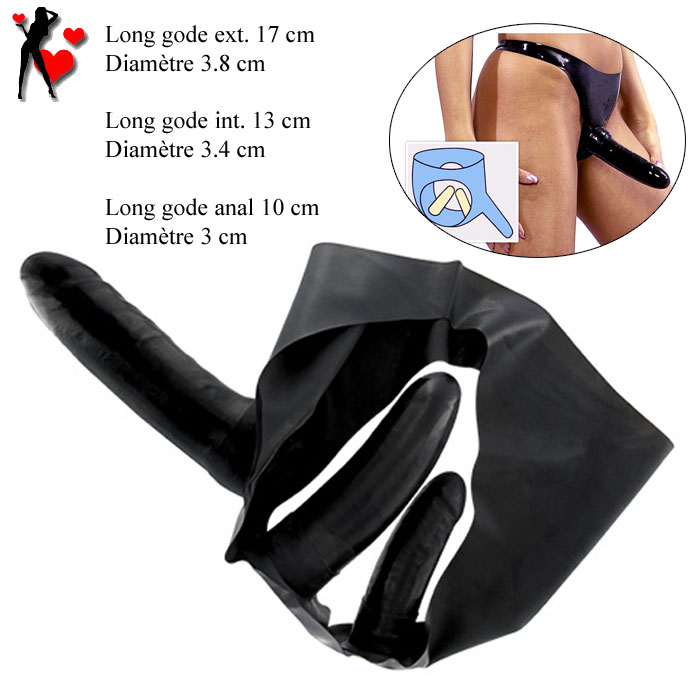 Culotte Latex triples pénétrations