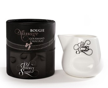 Bougie massage plaisirs secrets chocolat