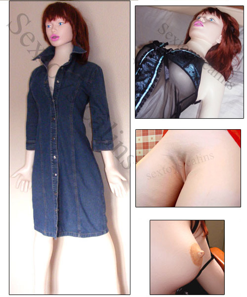 Romy poupée gonflable latex rousse
